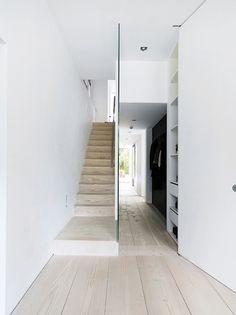 glass wall + dinesen floors