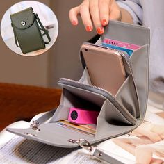 Vintage PU Leather Universal Shoulder Phone Bag For iPhone Samsung Huawei Xiaomi is designer, see other cute bags on NewChic Mobile. Crossbody Wallet, Small Crossbody Bag, Fashion Handbags, Fashion Bags, Girls Bags, Cute Bags, Casual Bags, Online Bags, Bag Patterns