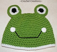 Need to hook one up of these for my BFF's daughter. Crochet Frog Child Hat by Amy Lehman