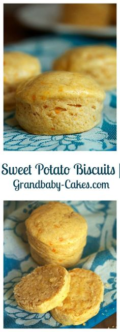These pillowy, flaky and perfectly spiced Sweet Potato Biscuits are the most delicious recipe to make for fall breakfasts and brunches all season long… - New Site Sweet Potato Bread, Sweet Potato Biscuits, Sweet Potato Recipes, Sweet Potato Muffins, Butter Biscuits Recipe, Biscuit Recipe, Fall Breakfast, Most Delicious Recipe, Holiday Baking