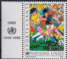 United Nations Soccer Stamp, 1988.