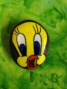 Hand painted tweety bird stone SNS DESIGNS