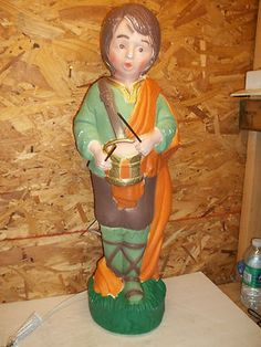 Vintage Christmas Blow Mold ~ Little Drummer Boy