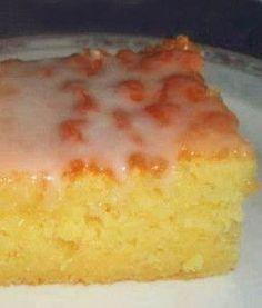 Best Lemon Sheet #Cake recipe with lemon glaze {made with buttermilk}