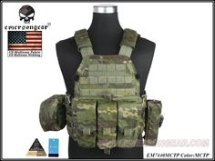 Emerson LBT6094A Plate Carrier With 3 Pouches(MCTP) #airsoft #365airsoft #airsoftvest