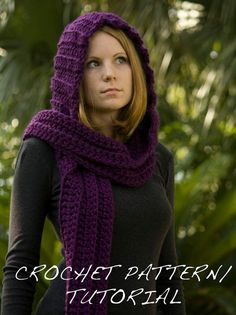 Etsy - $4 patterns for crochet hooded scarves