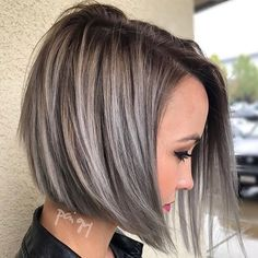 Morning stylists! We ❤️ this short, asymmetrical hair cut and silver highlights by @polishedbypaigey! Remember to tag #modernsalon today to be featured!