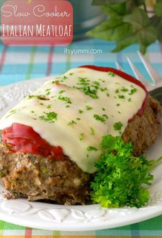 Slow Cooker Italian Meatloaf  - CountryLiving.com