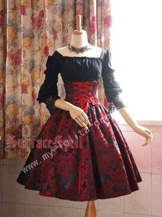 Surface Spell Gothic Lolita Dresses, Skirts and Coats - My Lolita Dress Pretty Outfits, Pretty Dresses, Beautiful Dresses, Old Fashion Dresses, Fashion Outfits, Fashion Goth, Gothic Lolita Fashion, Steampunk Fashion, Lolita Goth