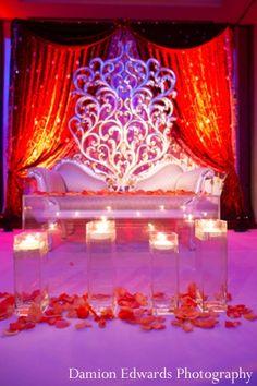 indian wedding reception lighting decor http://maharaniweddings.com/gallery/photo/7918