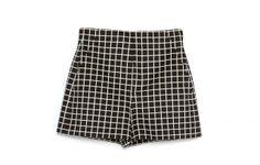 Zara Checked Shorts