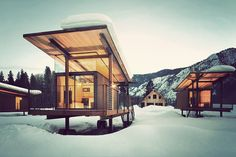 Enjoy all the natural beauty of camping with none of the hassle by staying at Rolling Huts. Designed by Tom Kundig of Olson Kundig Architects in Seattle.
