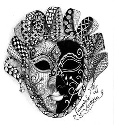 This page is a work in progress - as time goes on I hope to add more of my art works which are available for purchase. Tangle Doodle, Tangle Art, Doodles Zentangles, Zentangle Patterns, Doodle Art, Diy Carnival, Carnival Rides, Carnival Dress, Venetian Carnival Masks