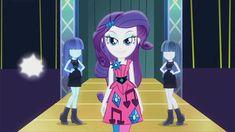 #861936 - animated, equestria girls, evil grin, faic, grin, lidded eyes, life is a runway, mannequin, rarity, safe, screencap, sway, walking - Derpibooru - My Little Pony: Friendship is Magic Imageboard