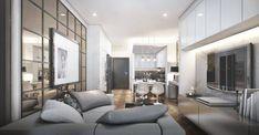 Jasa Desain Interior Apartemen Terbaik ☎ 0813 5896 3216 (PIR Interior) Oversized Mirror, Divider, Interior, Room, Furniture, Home Decor, Bedroom, Decoration Home, Indoor