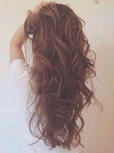 Loose waves medium brown hair