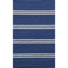 We love the bold blue hue of this outdoor rug. | $59