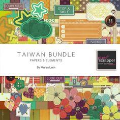 Taiwan Bundle by Marisa Lerin   Pixel Scrapper digital scrapbooking