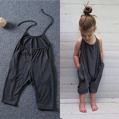 Carmen jumpsuit We love seeing your little ones in jumpsuits. This grey jumpsuit is casual but drapes just right. Features: - Jumpsuit - Cozy + soft cotton - Jumpsuits and Romper Baby Girl Fashion, Toddler Fashion, Fashion Kids, Unique Fashion, Baby Girl Dresses, Baby Dress, Baby Girls, Baby Boy, Dresses Uk
