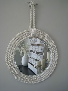 Beautiful way to add a #nautical touch to your home