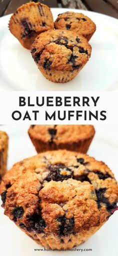 These delicious easy breakfast muffins are flourless, refined sugar-free, rich in fiber and very tasty! Store these meal prep healthy blueberry muffins in the fridge for a simple healthy on the go breakfast! Oatmeal Blueberry Muffins Healthy, Sugar Free Blueberry Muffins, Easy Breakfast Muffins, Healthy Muffins, Blue Berry Muffins, Blueberry Breakfast, Sugar Free Breakfast, Blueberry Desserts, Breakfast Healthy