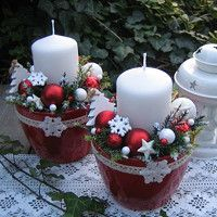 Jídlo a floristika / Zboží | Fler.cz Christmas Candle Decorations, Christmas Crafts For Gifts, Christmas Room, Christmas Tablescapes, Christmas Candles, Christmas Wreaths, Christmas Ornaments, Holiday Decor, Natural Christmas