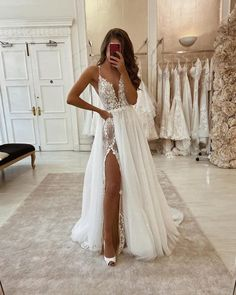 Simple A Line Tulle Wedding Dresses Spaghetti Straps Lace Side Slit Boho Wedding Dress from . - Simple A Line Tulle Wedding Dresses Spaghetti Straps Lace Side Slit Boho Wedding Dress from Babybridal, Source by - Top Wedding Dresses, Wedding Dress Trends, Tulle Wedding, Boho Wedding Dress, Bridal Dresses, Boho Dress, Wedding Ideas, Reception Dresses, Wedding Dress Removable Skirt