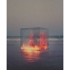 strathcona // ryley - Fire in a box. Tanapol Kaewpring, 2010. ❤ liked on Polyvore featuring home and home decor