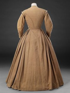 Dress — The John Bright Collection 1800s Dresses, Day Dresses, Vintage Dresses, Vintage Outfits, Dresses For Work, 1800s Fashion, 19th Century Fashion, Victorian Fashion, Vintage Fashion