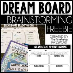 Have you ever created a vision board for yourself? If so, you know the power of visualization. When we turn our dreams into something visual, we have a greater chance of accomplishing them.A dream board is a kid-friendly version of a vision board. Creating A Vision Board, Board For Kids, School Counseling, Life Skills, Quotes Images, Middle School, Teaching, Create, Board Ideas