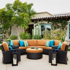 Cabo Wicker Ottoman With A Willow Weave And Blend Sand Fabric   Todayu0027s  Patio. Todayu0027s Patio · Affordable Luxury Patio Furniture