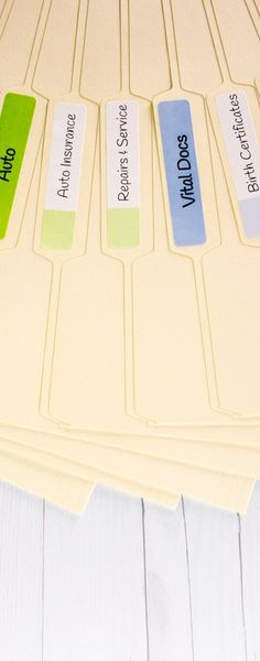 Keep important documents organized with printable file folder labels. Shop popular filing label sizes for hanging tab file folders, Manilla folders, and more. Printable Labels, Printables, White Labels, File Folder Labels, File Folder Organization, Online Labels, Organizing Labels, Family Organizer, Label Templates