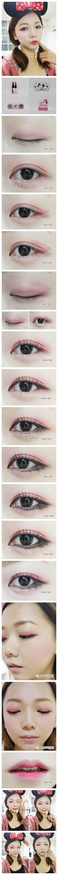 Korean make up I love the Minnie ears! Clothes Women, Fashion Clothes, Fashion Outfits, K Beauty, Beauty Trends, Korean Wedding Makeup, Cool Outfits, Casual Outfits, Korean Make Up