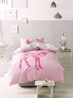 HETTY QUILT COVERS SINGLE PINK QUILT COVER SETS