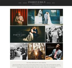 Website design - Love the image layout and use of words hard on some and on layover on some.   http://www.prophoto.com/store/foreverly/ Foreverly