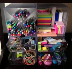 Product Review on Gourmet Pen's Blog- stackable cubes are a great resource for organization.