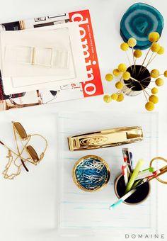 Brass Desk Accessories.