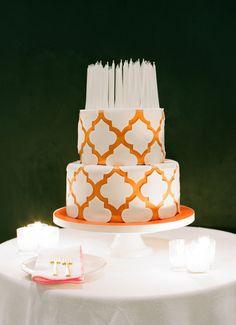 Decorative orange cake: Photography: Joel Serrato - http://joelserratofilms.com/