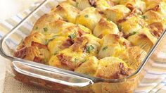Bacon, Egg, and Cheese Pull Apart. One of my favorite breakfasts. It's always a hit with a crowd.