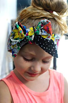 Multi Floral with Polka Dots Reversible Baby Toddler Adult Hair Wrap by DixieBloom on Etsy https://www.etsy.com/listing/230315146/multi-floral-with-polka-dots-reversible