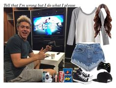 """""""Playing video games with Nialler (my brother) - Louis' Girl"""" by jaynnelinsstyles ❤ liked on Polyvore featuring RVCA, UNIF, Converse, Microsoft, Smashbox, Zero Gravity and Marc Jacobs"""