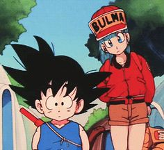 Goku and Bulma Kid Goku, Goku And Bulma, Dragon Ball Gt, Death Note, Naruto Shippuden, Sailor Moon, Haikyuu, Card Captor, Animation