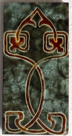 Love the style of this rare Gothic/Celtic/Nouveau blend from Henry Richards c1906/9 tile reference 1044 in my latest book Art Nouveau Tiles with more Style.