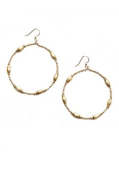 Keranga: Hoop Earrings $32