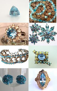 Beautiful Blues  VJT Shop Promo by Ali on Etsy--Pinned with TreasuryPin.com