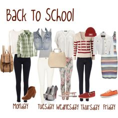 High School Outfit Ideas | Back to School Outfit Ideas - Polyvore