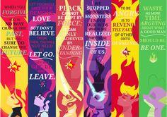 EQG Princesses + Spike Bookmark Pack by DarkestSunset