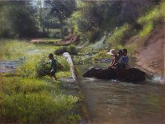Orley Ypon (oil on canvas) Filipino Art, Fine Arts College, Work Meeting, Painting Competition, All Nature, Old Master, Landscape Paintings, Oil Paintings, Art School