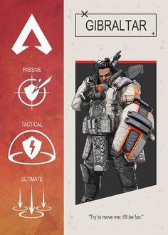 "Apex Legends Character Abilities Gibraltar artwork by artist ""Gemini-P."