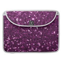 Purple Faux Glitter Sparkles MacBook Pro Sleeve - fancy gifts cool gift ideas unique special diy customize